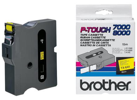 Banda Originala Brother Etichete TX641, 18mm x 15m