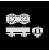 Cleme Duble pentru Cabluri Metalice de Tractiune-3mm