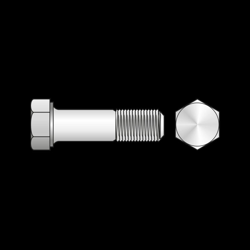 Surub Filetat Cap Hexagonal Otel gr.8.8 Zincat-M24x120