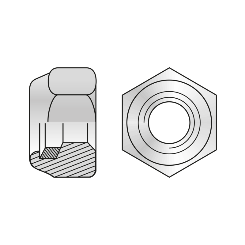 Piulita Hexagonala Inalta Rezistenta Otel Zincat-M10