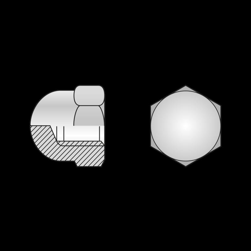 Piulita Infundata Inalta din 1587 Inox A2-M8 158728S