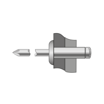 Popnituri Standard Cap Bombat Aluminiu/Otel-4.8x 12