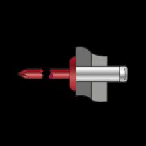 Nituri-Pop Standard Cap Bombat Aluminiu/Otel-4x8 RAL 8017