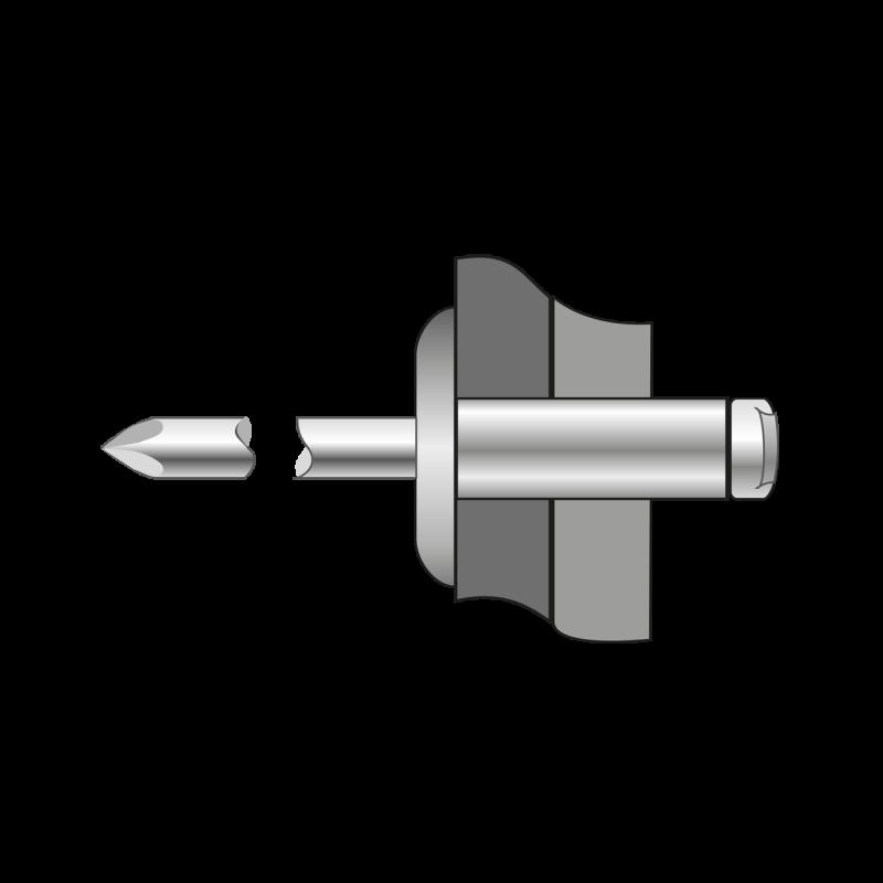Pop-Nituri Cap Lat Aluminiu/Otel-4.8x 16 BR.1030004816S