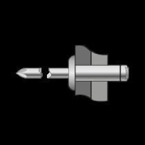 Nituri-Pop Cap Bombat Aluminiu/Inox-5x 12 BR.1019005012AS