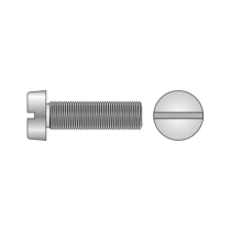 Surub Cap Cilindric Crestat 84 Otel Gr.4.8 Nichelat-M4 X 8