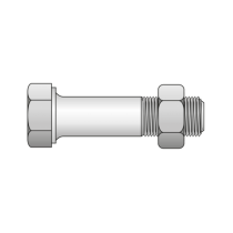Surub Cap Hexagonal Partial Filetat+piulita 601 Otel Gr.4.6-M10 X 60