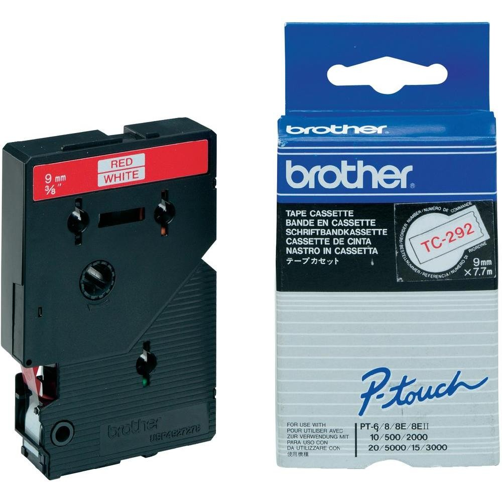 Banda Originala Laminata Etichete Brother TC292, 9mm x 5m