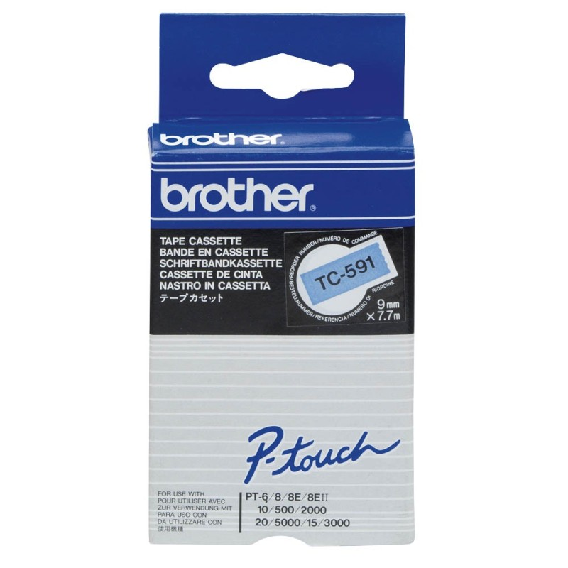 Banda Continua Laminata Brother TC591, 9mm x 5m