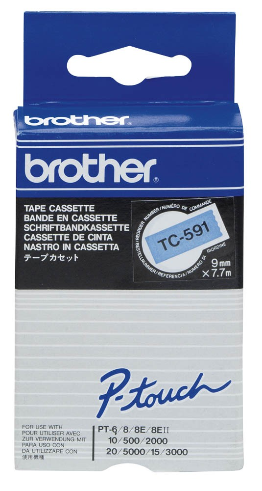 Banda Originala Laminata Brother TC591, 9mm x 5m