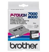 Banda Continua Laminata Etichete Brother TX231, 12mm x 15m