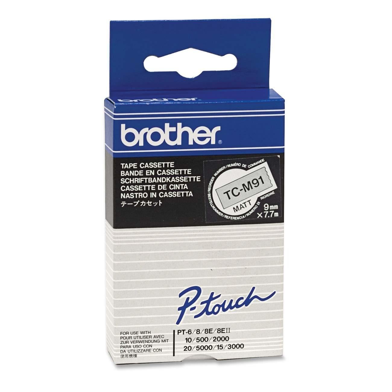 Banda Originala Laminata Etichete Brother TCM91, 9mm x 5m