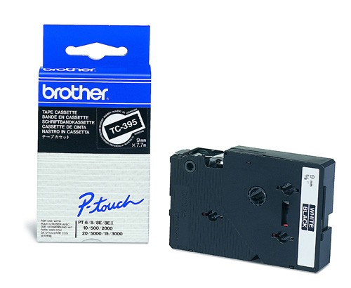 Banda Originala Laminata Etichete Brother TC395, 9mm x 5m