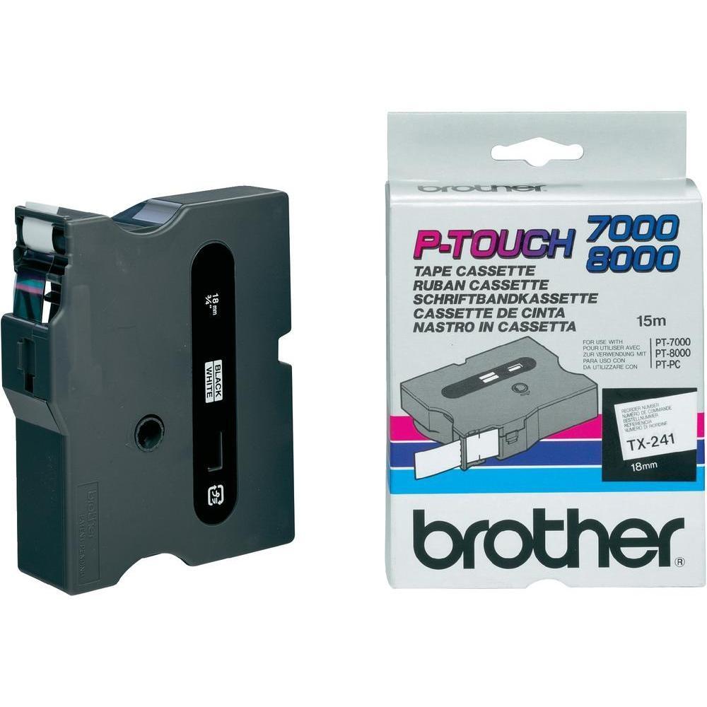 Banda Originala Brother Etichete TX241, 18mm x 15m