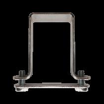 Brida Banda Pentru Stalpi Rectangulari Dimensiuni Stalp 40x40 Mm Acoperire Vopsit Ral 6005