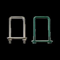 Brida Otel Rotund Model Bg Pentru Fixarea Panourilor De Gard Pe Stalpi Rectangulari Lxb 30x30 Mm Acoperire Zincat Electrolitic