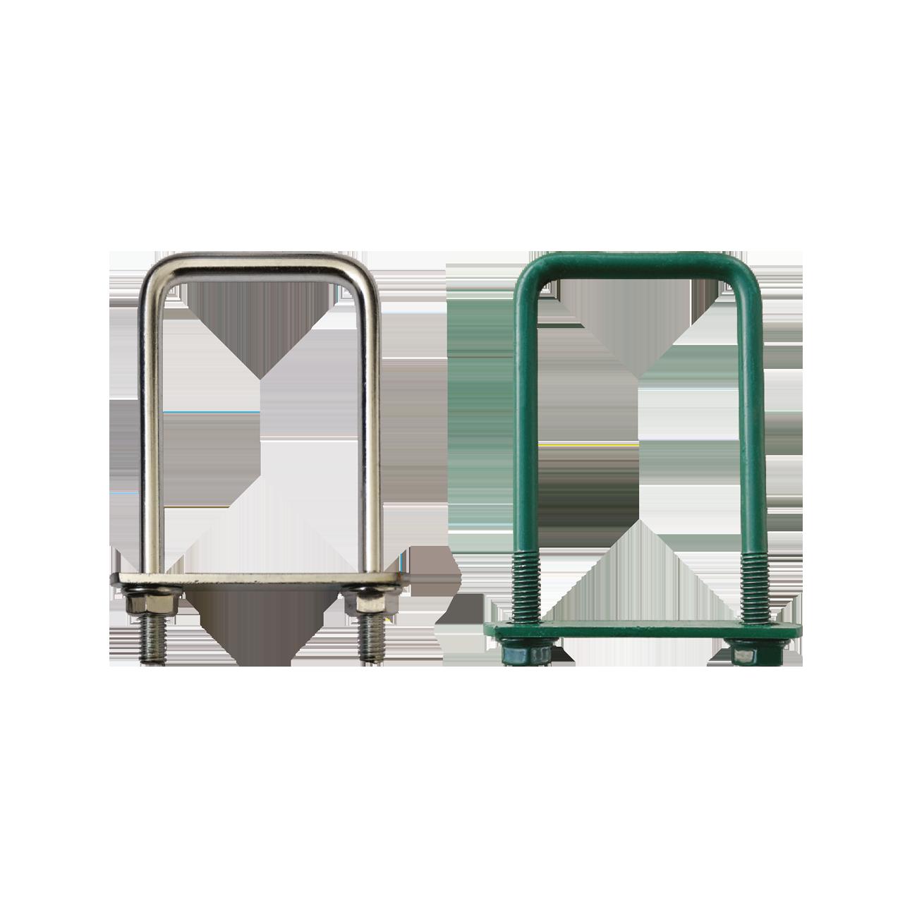 Brida Otel Rotund Model Bg Pentru Fixarea Panourilor De Gard Pe Stalpi Rectangulari Lxb 30×30 Mm Acoperire Zincat Electrolitic