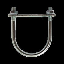 Brida Otel Rotund Model Bg Pentru Fixarea Panourilor De Gard Pe Stalpi Rotunzi Ø 80 Mm Ø-inch Acoperire Zincat Electrolitic