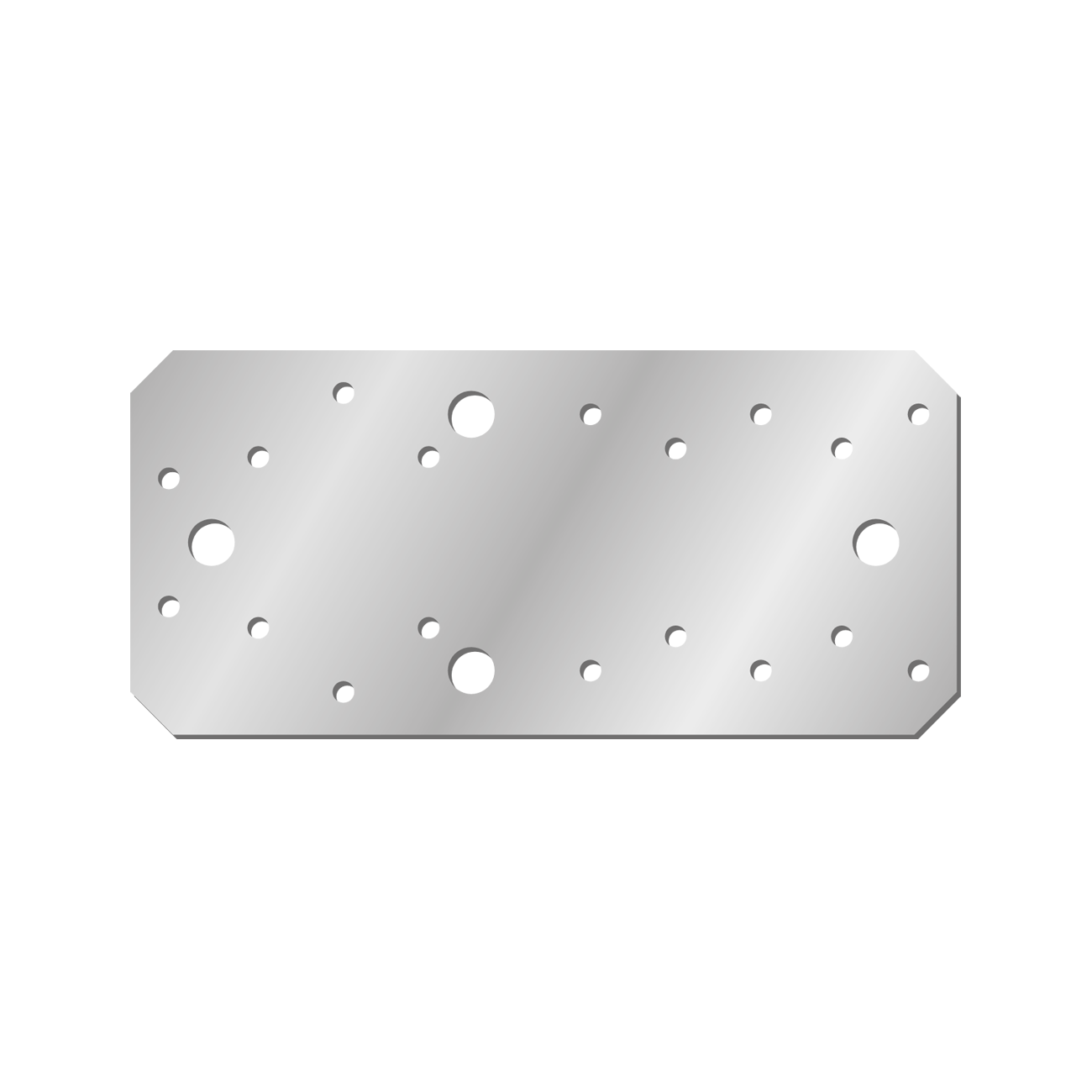 Placuta Cp100 Zincata 194x90x2 Mm Perforatii 18×5.1-4×11.0