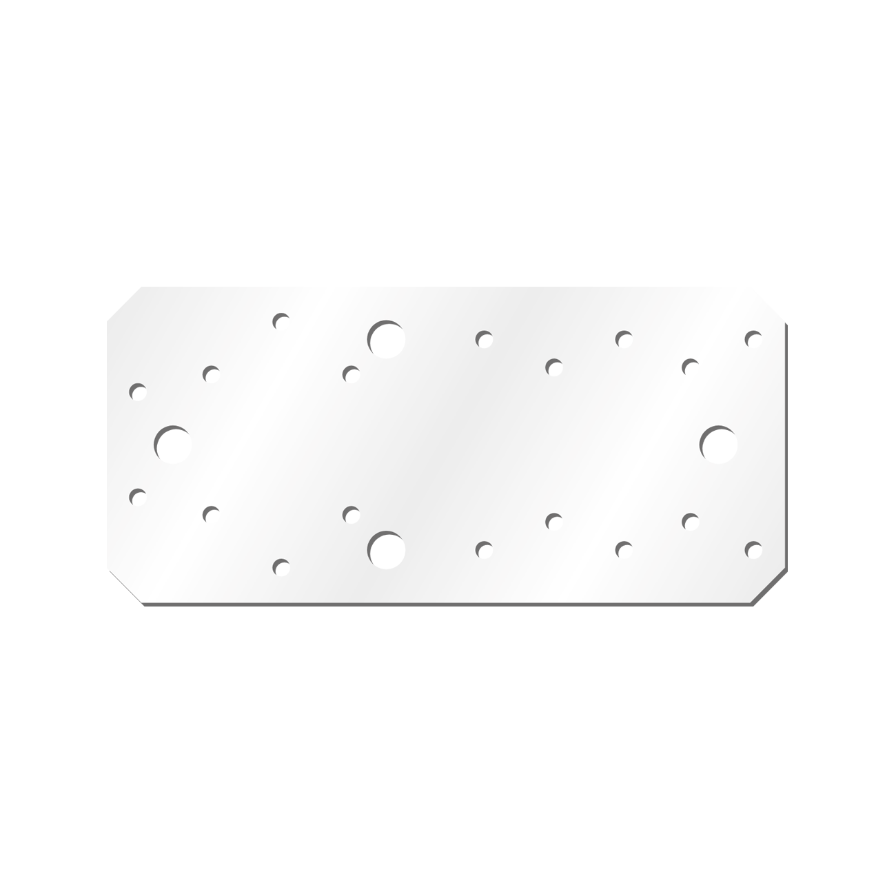 Placuta Cp90v Vopsita Alb Electrostatic 174x60x2 Mm Perforatii 20×5.1-2×11.0
