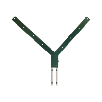 Suport Dublu Pt. Prinderea Sarmei Ghimpate-serie Grea Dimensiuni Stalp 60x40 Material Otel Acoperire Zincat Electrolitic