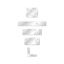 Placuta Vopsita Alb Electrostatic Tip 4 90x40x2.5 Mm Perforatii 6xr5.0