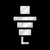 Placuta Vopsita Alb Electrostatic Tip 4 180x40x2.5 Mm Perforatii 12xr5.0