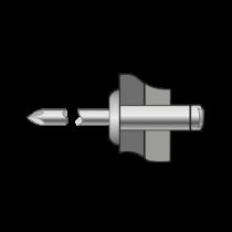 Pop-nituri Standard Cap Bombat Aluminiu/otel-3 X 12
