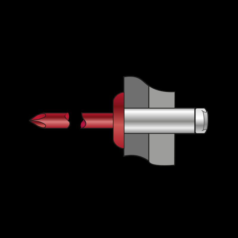 Pop-nituri Standard Cap Bombat Ruginiu Aluminiu/otel-4 X 10 Ral 3009