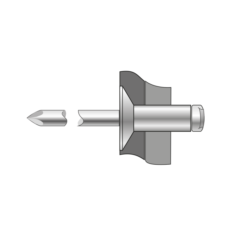 Pop-nituri Cap Tesit 120 Aluminiu/otel-3 X 14