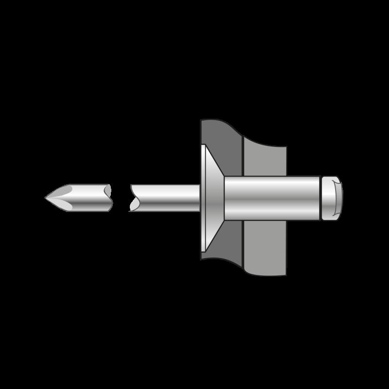 Pop-nituri Cap Tesit 120 Aluminiu/otel-3.2 X 6