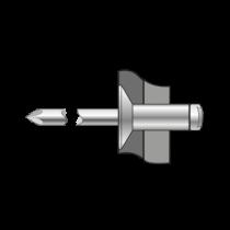 Pop-nituri Cap Tesit 120 Aluminiu/otel-3.2 X 12