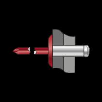 Pop-nituri Cap Lat Aluminiu/otel-4.8 X 12 X 14 Ral 3011