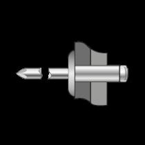 Pop-nituri Cap Lat Aluminiu/otel-5 X 20