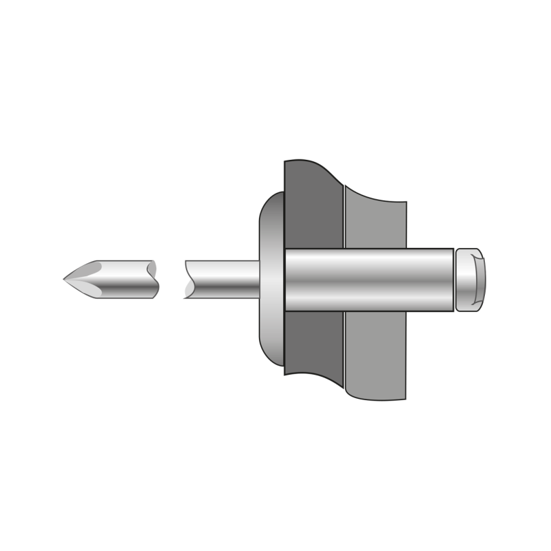 Pop-nituri Cap Lat Aluminiu/otel-4 X 10