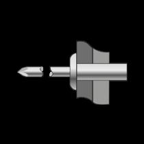 Pop-nituri Etanse Cap Bombat Aluminiu/otel-4.8 X 13