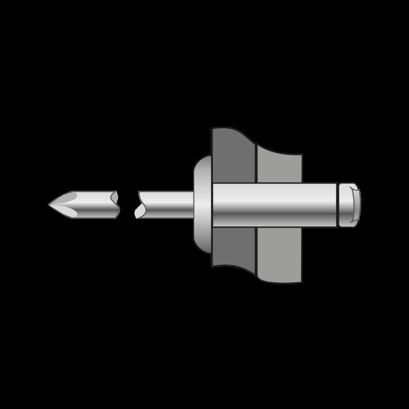 Pop-nituri Cap Bombat Otel/otel-4.8 X 6