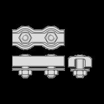 Cleme Duble Pentru Cabluri Metalice De Tractiune-5mm