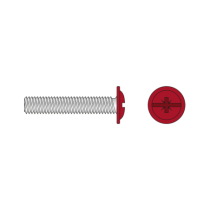 Surub Cap Bombat Saiba Otel Zincat-M4 X 45