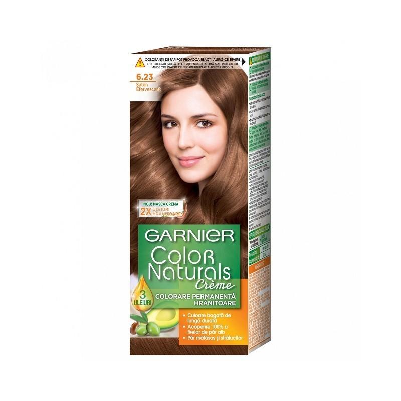 Vopsea de Par cu Amoniac Garnier Color Naturals 6.23  Saten Efervescent