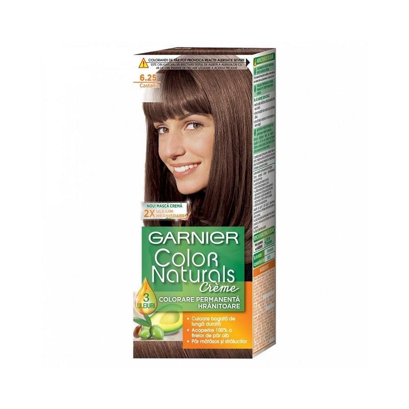 Vopsea de Par cu Amoniac Garnier Color Naturals 6.25  Castaniu