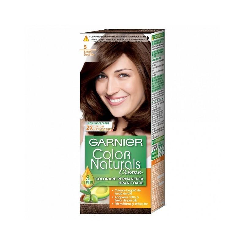 Vopsea de Par cu Amoniac Garnier Color Naturals 5 Saten Deschis