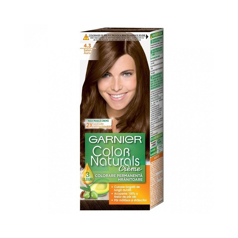 Vopsea de Par cu Amoniac Garnier Color Naturals 4.3  Saten Auriu