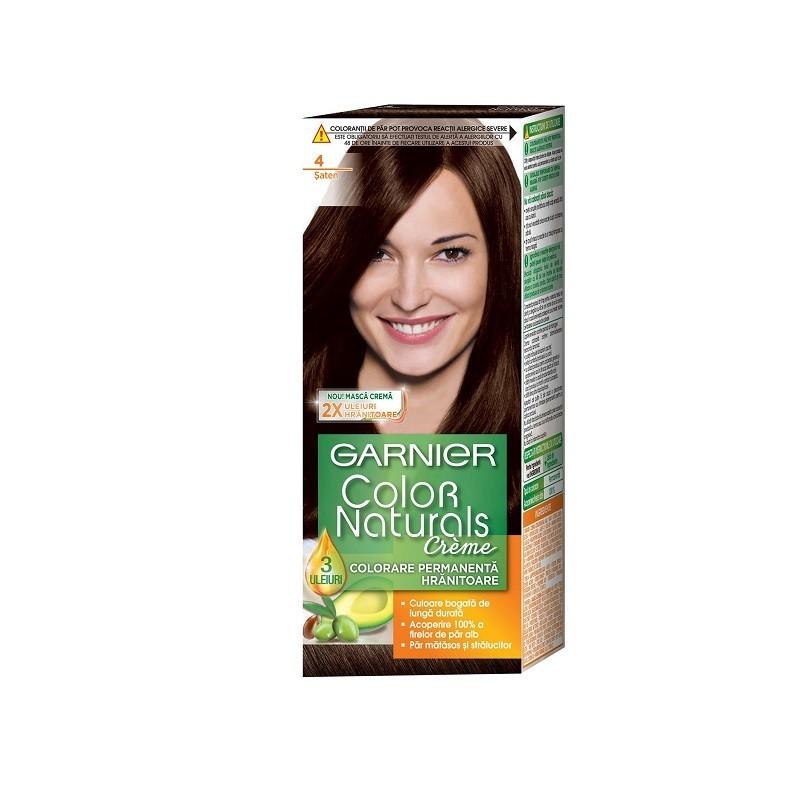 Vopsea de Par cu Amoniac Garnier Color Naturals 4 Saten