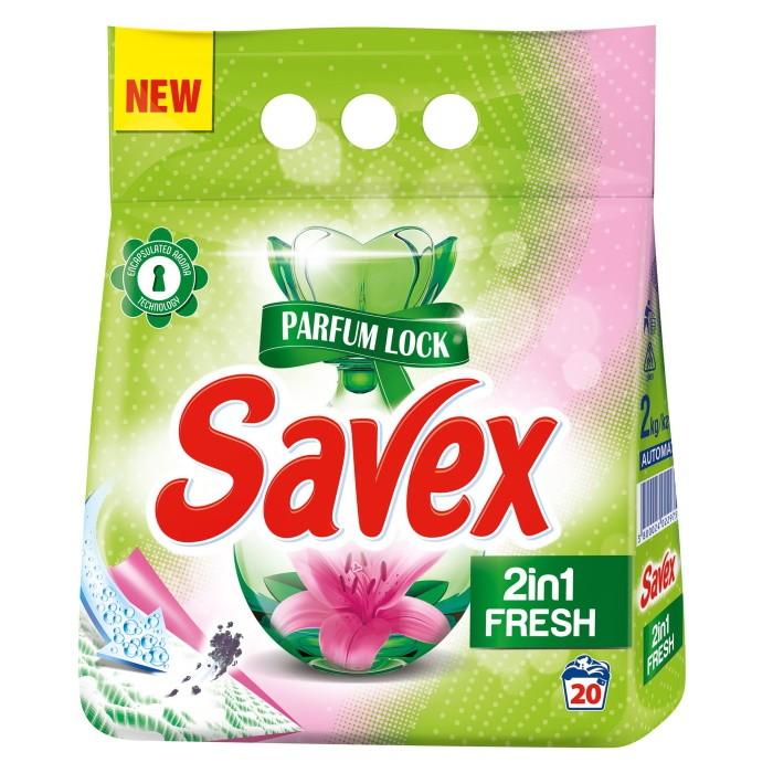 Detergent Automat Savex 2 Kg, 2 In 1 Fresh