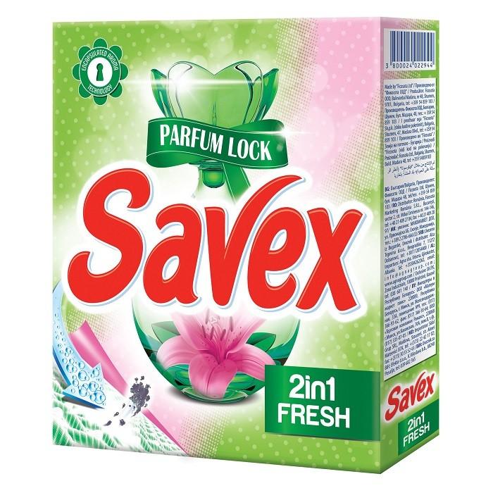 Detergent Automat Savex 300 g, 2 In 1 Fresh title=Detergent Automat Savex 300 g, 2 In 1 Fresh