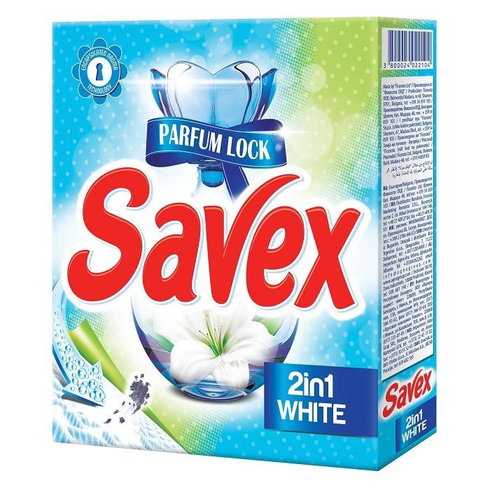 Detergent Automat Savex 300 g, 2 In 1 White