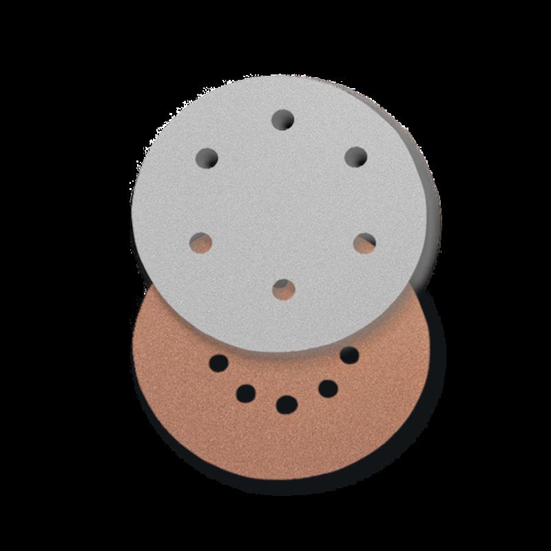 Disc din Hartie Abraziva, pentru Glet / Vopsea Lavabila / Lemn, Tip 2, R 225, 6 Perforatii, Gr. 80