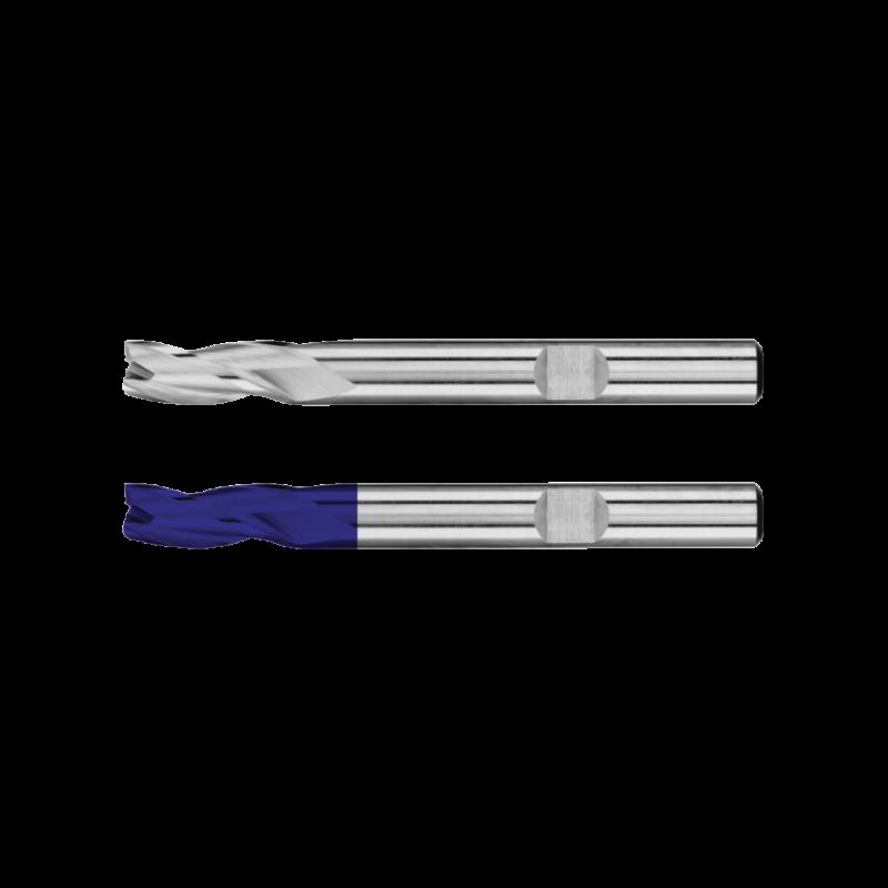Freza HSS-E Co8, Tip N, din 844l, Lunga, 3 Taisuri, HSS-E Tiain, R 3 / 6, L 8 / 52