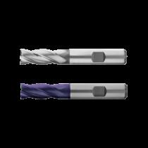 Freza HSS-E Co8, Tip N, din 844k, Scurta, 4 Taisuri, HSS-E , R 4 / 6, L 11 / 55